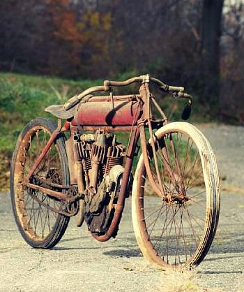 Unrestored 1915 Indian V Twin Board Track Racing Bike