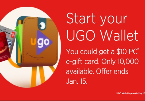 UGO Wallet Download Free $10 President's Choice Gift Card