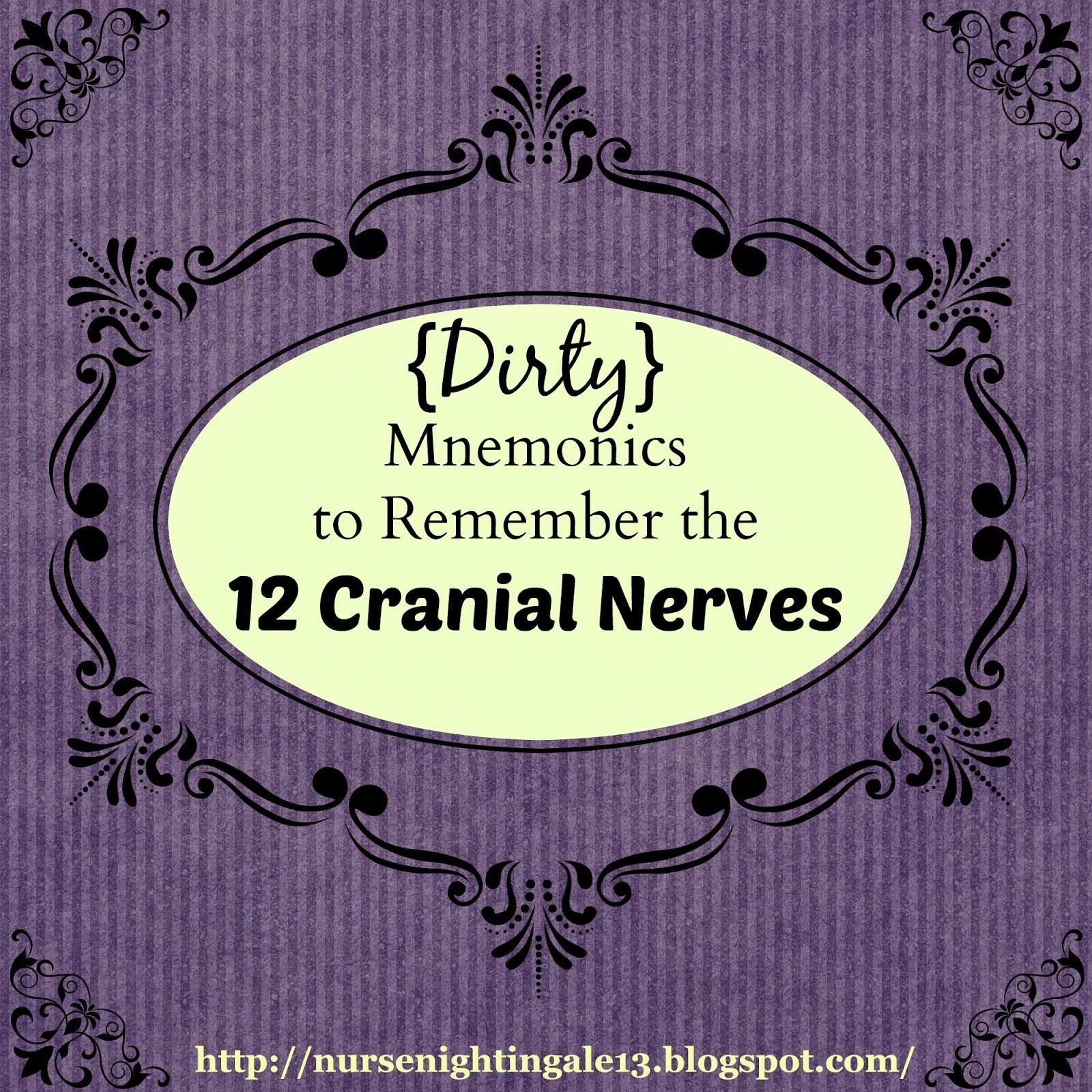 Nurse Nightingale: {Dirty} Mnemonics to Remember the 12 Cranial Nerves