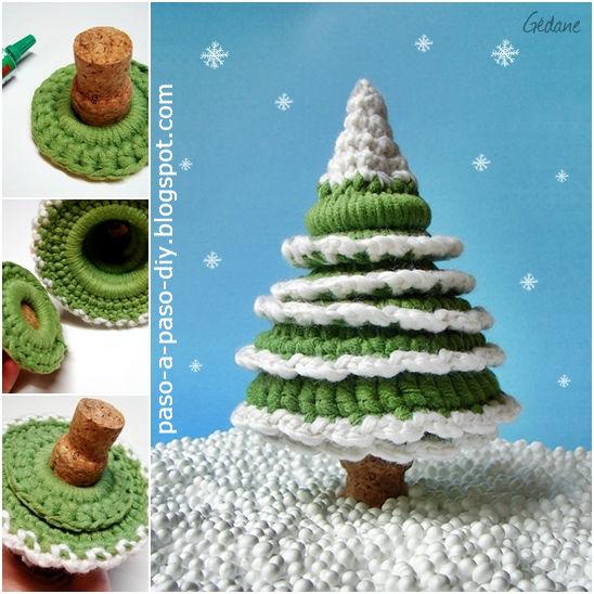 Cómo hacer un pino de Navidad crochet - DIY   Paso a Paso