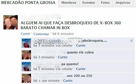 Desbroqueio de Xbox
