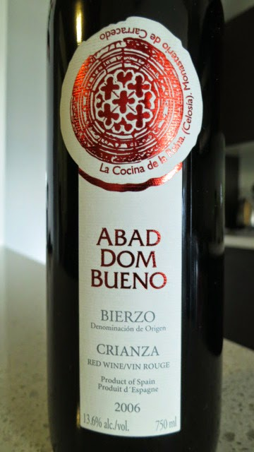 Wine Review of 2006 Abad Dom Bueno Crianza from DO Bierzo, Spain