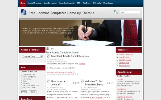 Free Joomla Corporate Business Theme Template