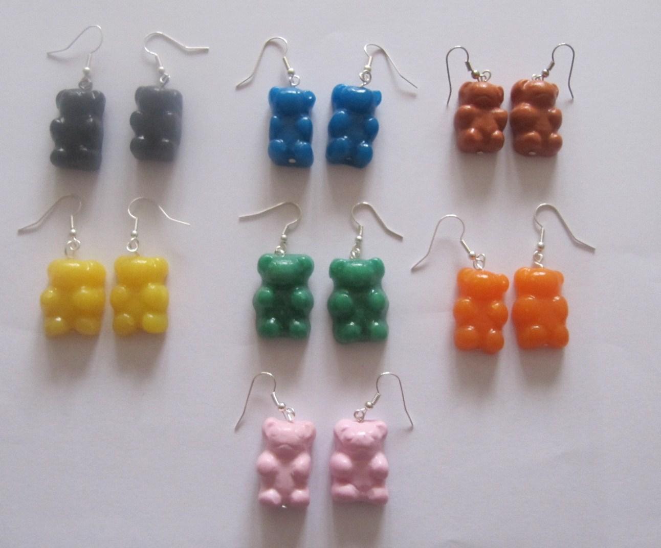 bijoux de cr 233 ation en p 226 te fimo bo bonbons nounours en fimo