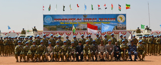 Medal Parade Satgas Indobatt-01 di Darfur