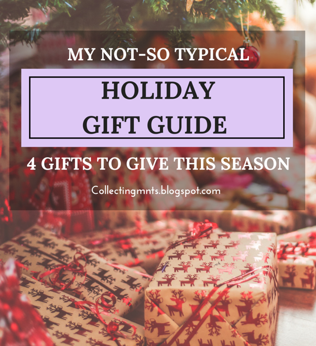 My Not So Typical Holiday Gift Guide: 4 Gifts to Give This Season via Collecting Moments Blog