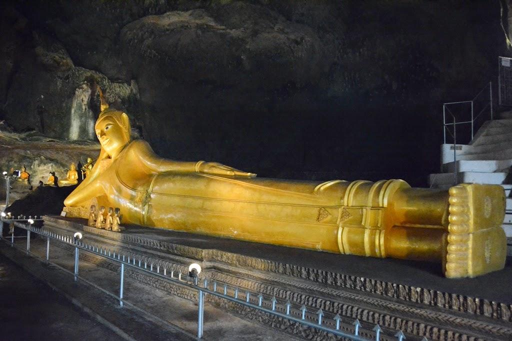 Watsuwankhuha Cave Phang Nga reclining Buddha