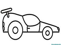 Gambar mobil untuk diwarnai