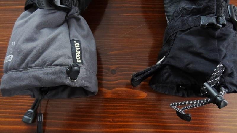 Pulling flap in Head mountaineering glove