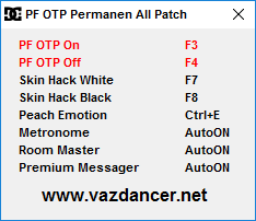 Cheat Perfect OTP Ayodance V6130