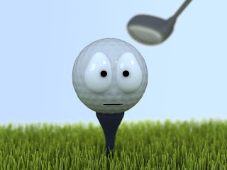 Confusing Golf Ball Wallpaper 1024x768