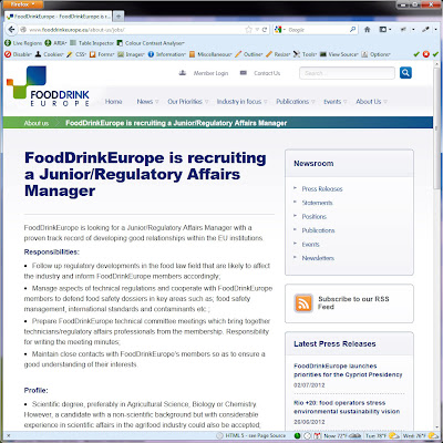 Screen shot of http://www.fooddrinkeurope.eu/about-us/jobs/.