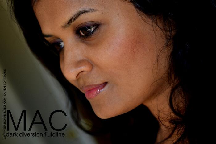 MAC Fluidline Dark Diversion Indian Makeup Beauty Blog Reviews Swatches FOTD EOTD Looks