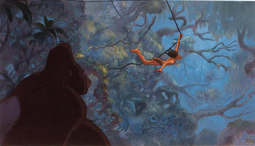 Tarzan in jungle Tarzan 1999 disneyjuniorblog.blogpspot.com