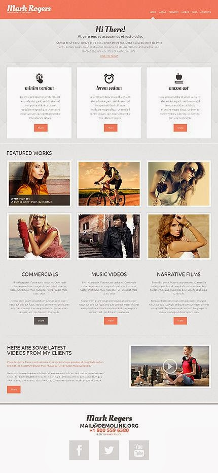 10 Premium WordPress themes with flat design