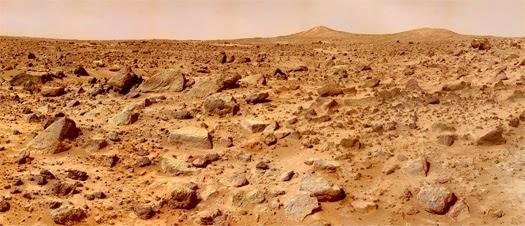Mars landscape, NASA/JPL