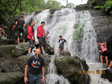 "Monsoon waterfalls thrill. on ""Shidi Trek"" route."