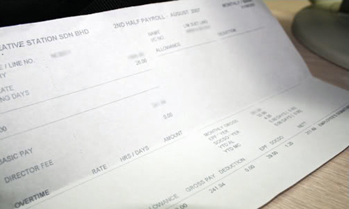 work pay slip