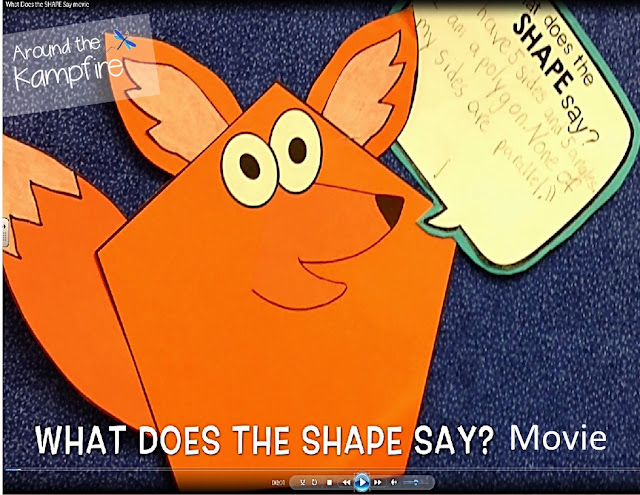 What Does the Shape Say? movie~Using ChatterPix and iMovie to give a voice to your learning!