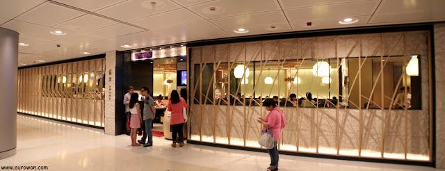 Entrada del restaurante Crystal Jade del centro comercial IFC