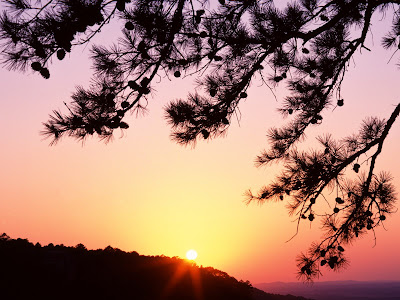 Sunset In Jean State Par, Arkansas Wallpaper