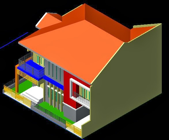 Gambar Desain Rumah 2 Lantai Di Tanah Bujur Sangkar