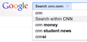 Google Search Within CNN