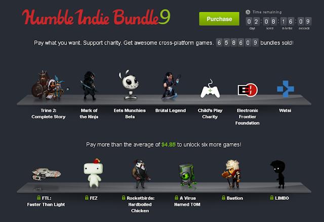 Nuevo pack de juegos para PC a cambio de un pequeño donativo.