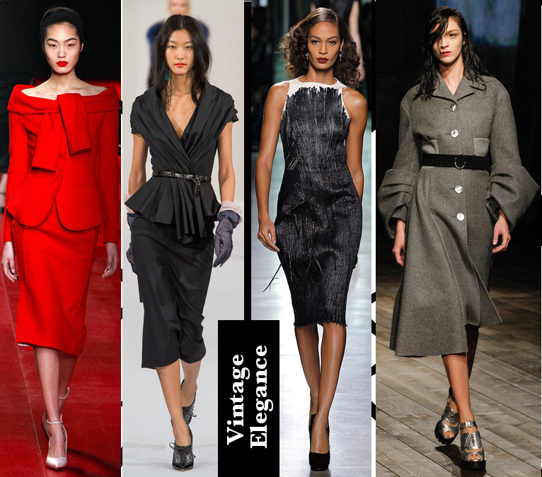 Women's Fall 2013/2014 Trends- Vintage Elegance and fabric