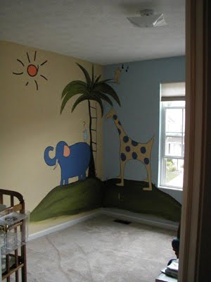 John Lennon inspired mural for babie's room