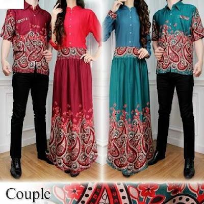 Couple Gamis Couple Vioni Batik - 10484