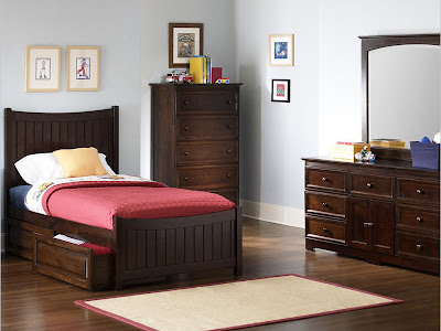 Bedroom Set Manhattan Antique Walnut Matching Footboard Best Kids Furniture Loft Beds Bunk