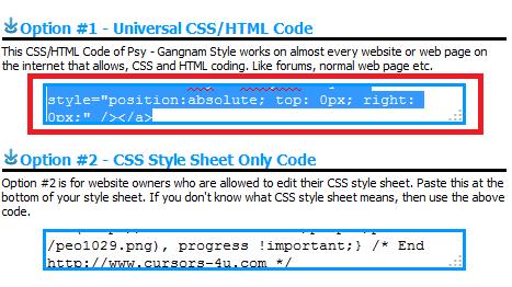 copy kode CSS yang ada pada gambar