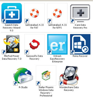 EaseUS Data Recovery Wizard, GetDataBack, iCare Data Recovery, MiniTool Power Data Recovery, Namosofts Data Recovery, Ontrack EasyRecovery Enterprise, Remo Recover, R-Studio, Stellar Phoenix Windows Data Recovery, Wondershare Data Recovery