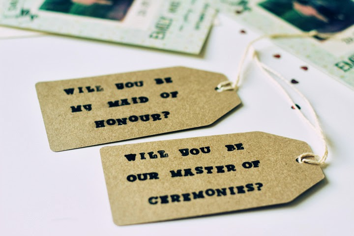 how to ask your bridesmaids and groomsmen