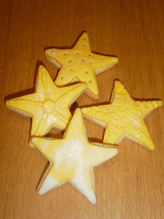 Galletas decoradas navidad, estrellas