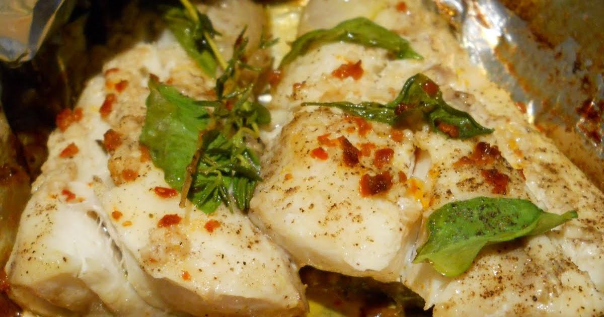 Eat cook and love poisson blanc au basilic citron en - Cuisiner poisson blanc ...
