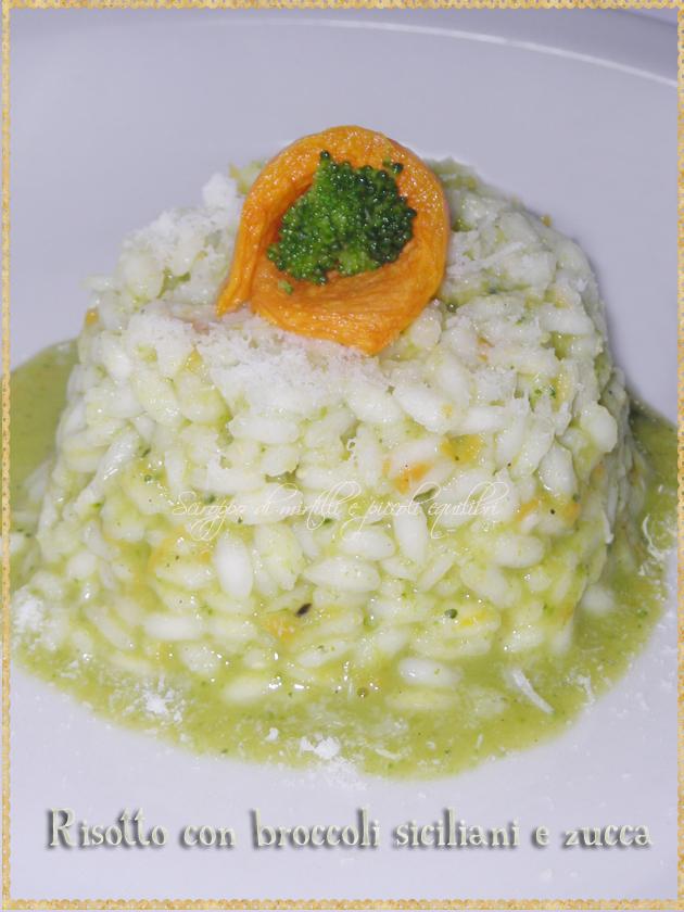 Risotto con broccoli siciliani e zucca