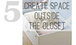 Small closet organizing tips by My Paradissi