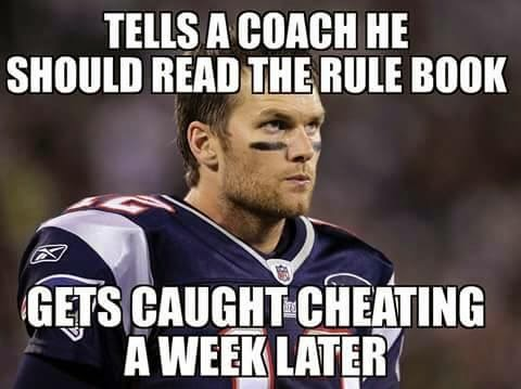 tells a coach he should read the rule book gets caught cheating a week later