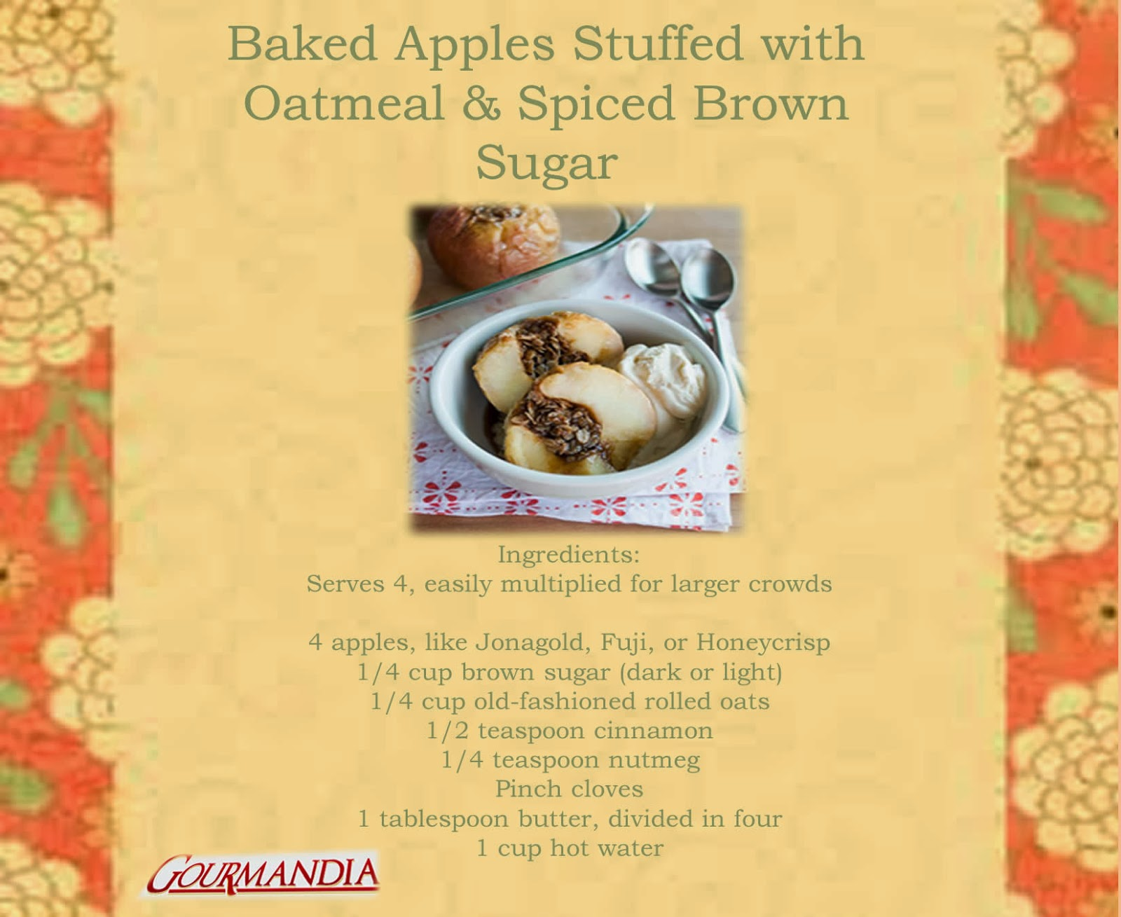 ... for Everyone: Baked Apples Stuffed with Oatmeal & Spiced Brown Sugar