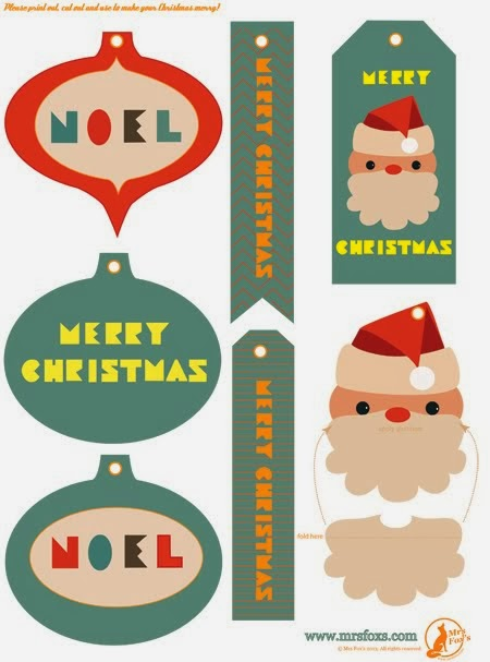 Mrs Fox's Christmas Gift Tags