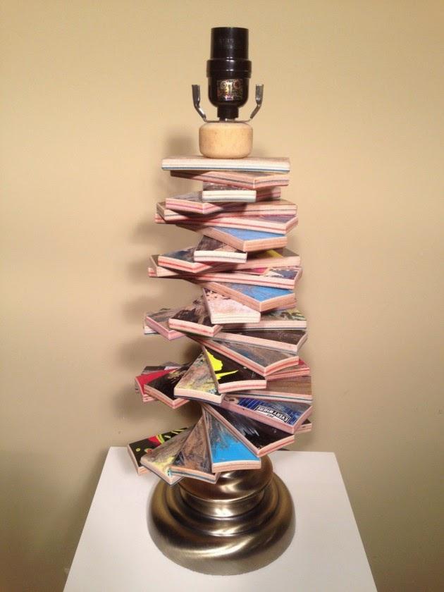 تزيين أباجورة بقطع من لوح رياضة التزلج