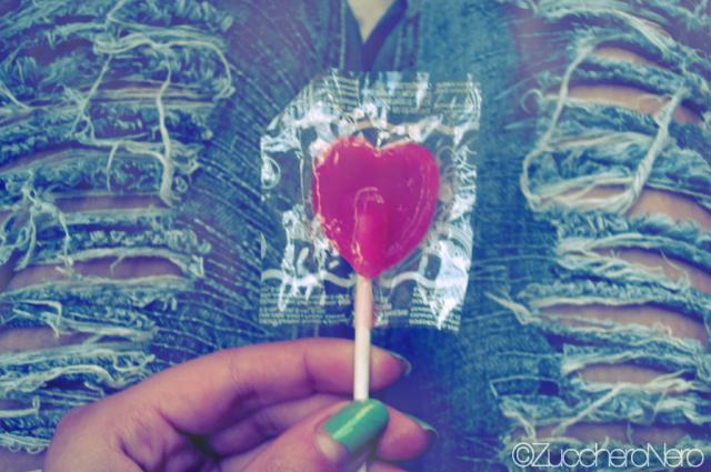 lecca lecca a forma di cuore