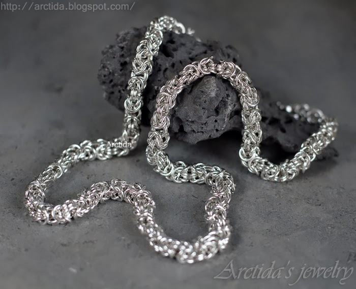http://www.arctida.com/en/for-men/91-mens-necklace-chainmaille-cross-pendant-oxidized-sterling-silver.html