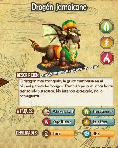 imagen de las caracteristicas del dragon jamaicano