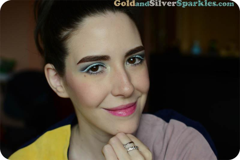cosmic blue makeup look