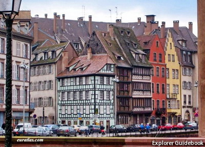 Strasbourg beautiful village alsace france