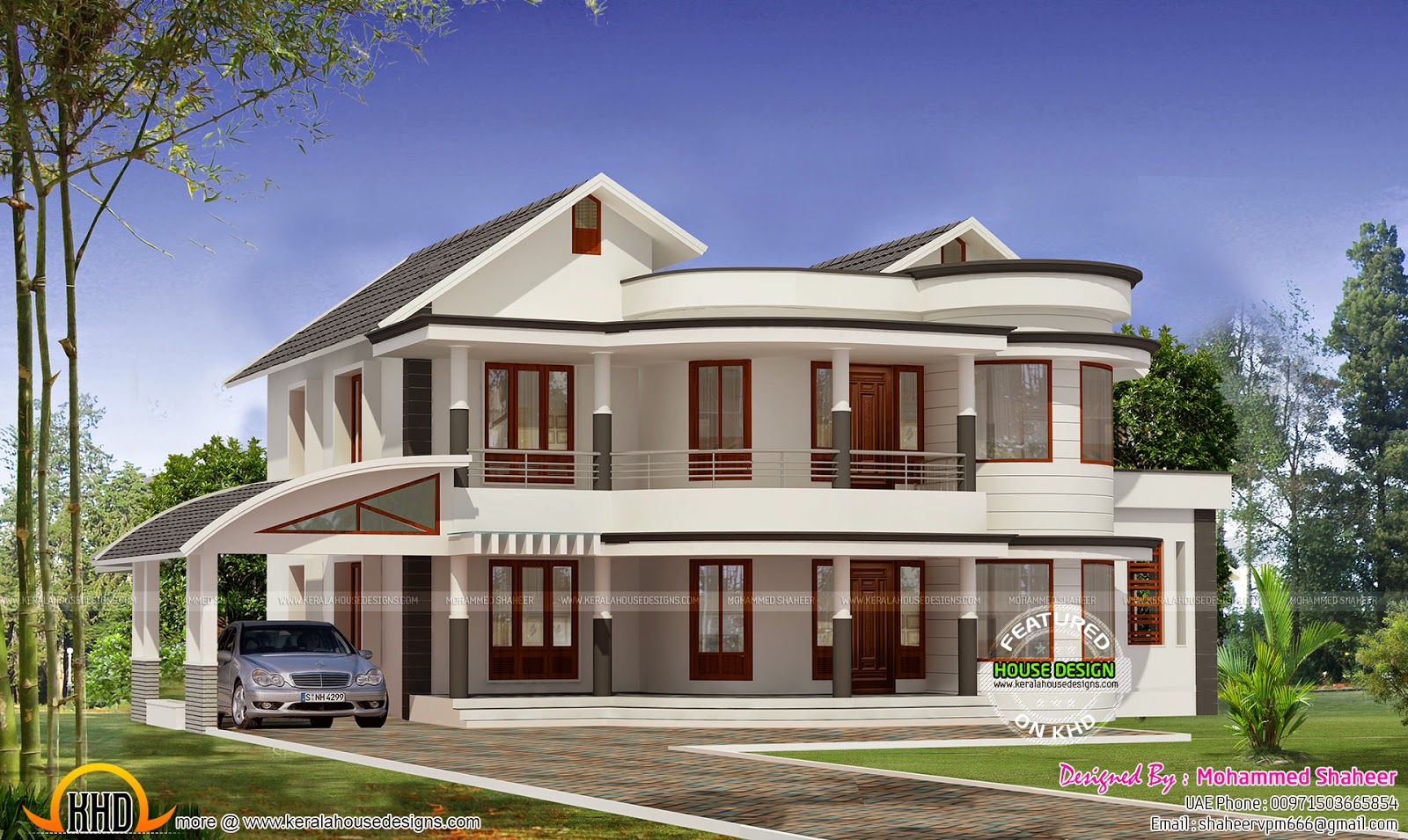 Mix Roof House 2500 Sq Ft Keralahousedesigns