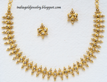 Indian Simple Gold Necklace Designs Check out simple gold uncut